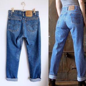 VINTAGE LEVI'S Orange Tab 505 High-Waisted Jeans